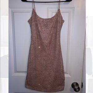 Pink Glitter Mini Dress White Fox Boutique
